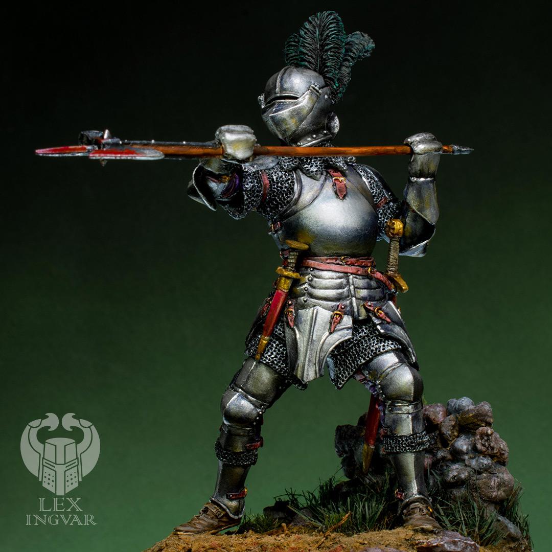 Фигурки: Итальянский кондотьер, бургундский рыцарь, фото #2