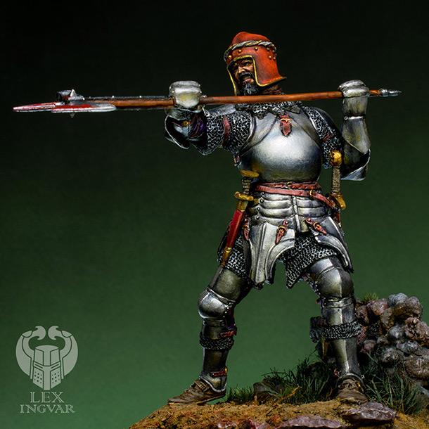 Фигурки: Итальянский кондотьер, бургундский рыцарь