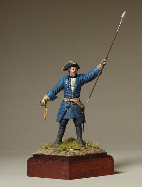 Фигурки: Офицер шведской пехоты. Северная Война, фото #1