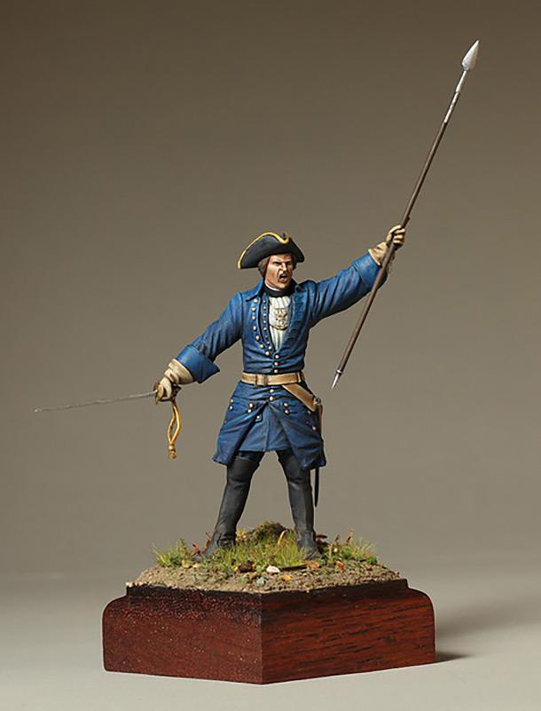 Фигурки: Офицер шведской пехоты. Северная Война