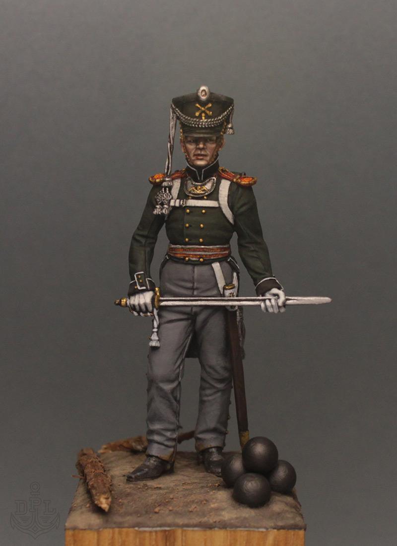 Фигурки:  Поручик артиллерийской легкой полуроты морских полков, 1813-1815 г., фото #1