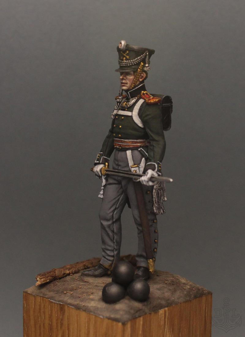 Фигурки:  Поручик артиллерийской легкой полуроты морских полков, 1813-1815 г., фото #2