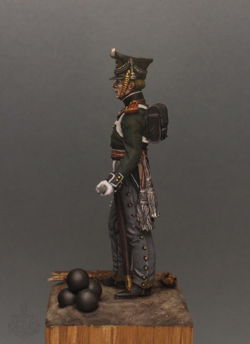 Фигурки:  Поручик артиллерийской легкой полуроты морских полков, 1813-1815 г., фото #3