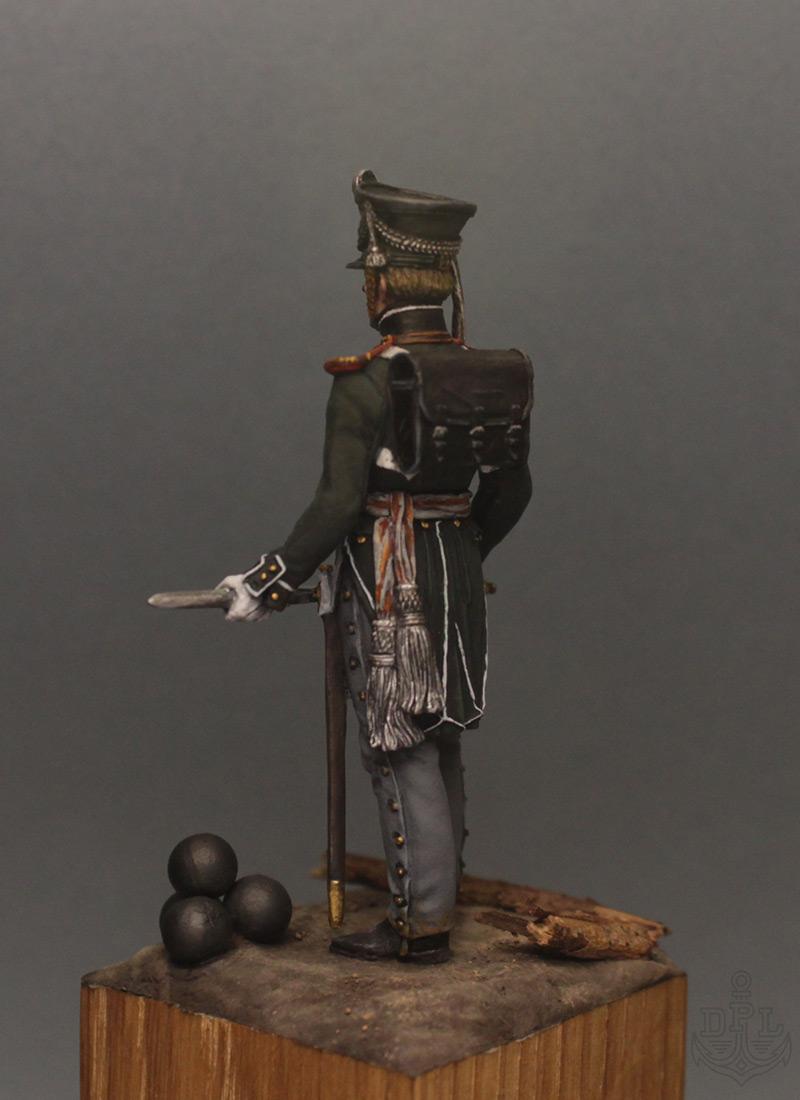 Фигурки:  Поручик артиллерийской легкой полуроты морских полков, 1813-1815 г., фото #4