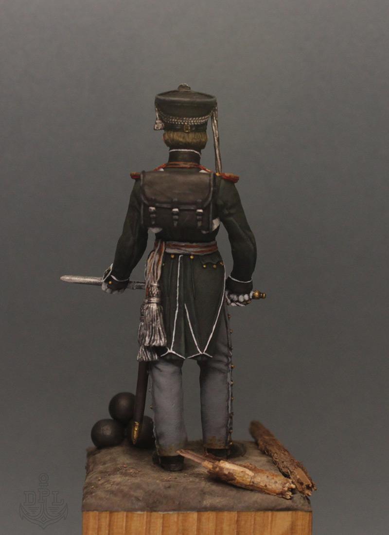 Фигурки:  Поручик артиллерийской легкой полуроты морских полков, 1813-1815 г., фото #5