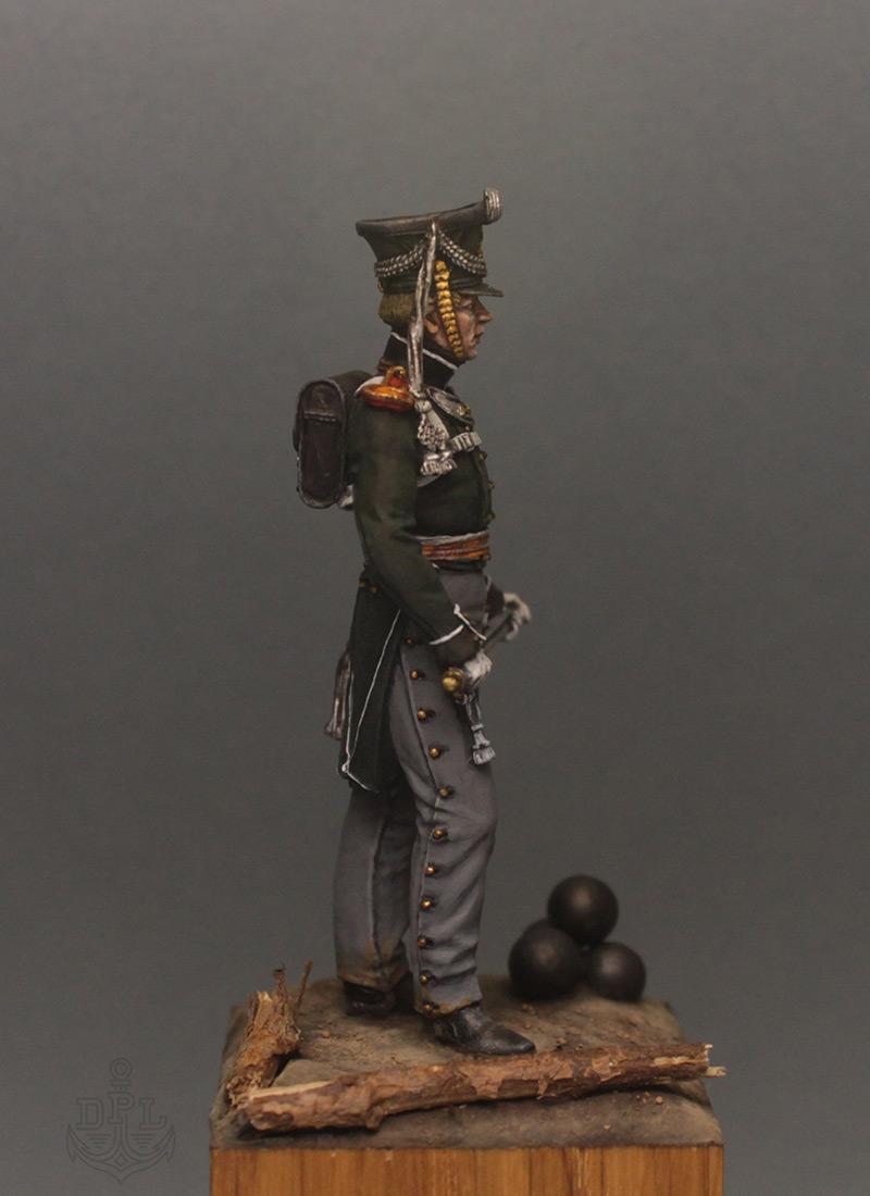 Фигурки:  Поручик артиллерийской легкой полуроты морских полков, 1813-1815 г., фото #7