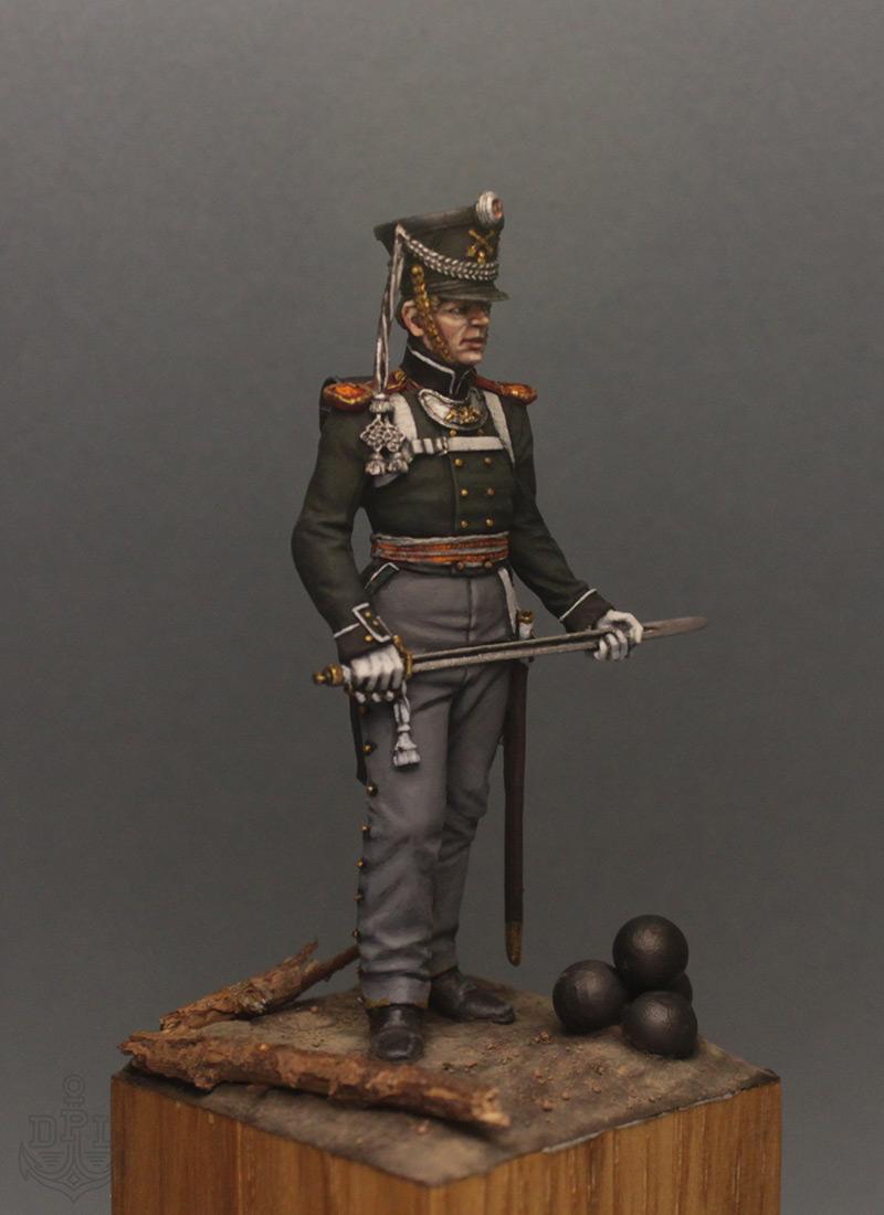 Фигурки:  Поручик артиллерийской легкой полуроты морских полков, 1813-1815 г., фото #8