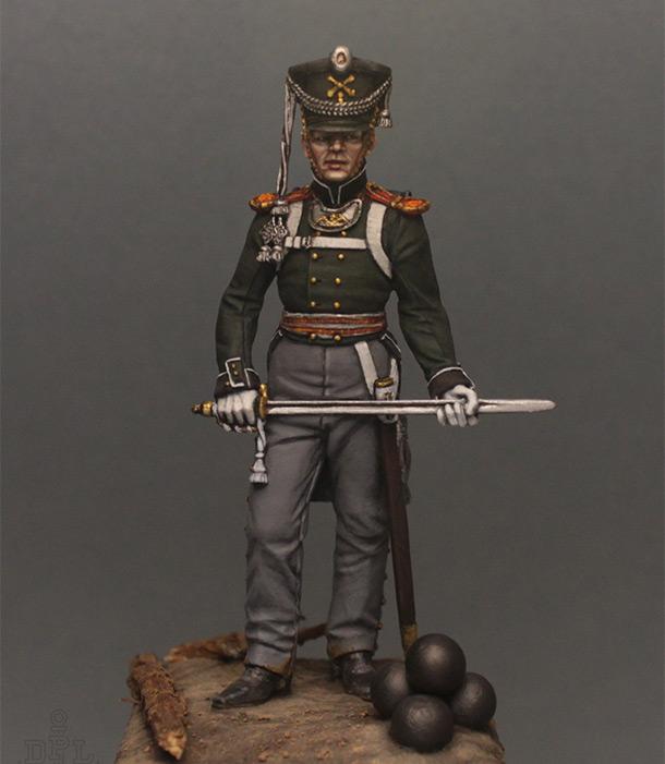 Фигурки:  Поручик артиллерийской легкой полуроты морских полков, 1813-1815 г.