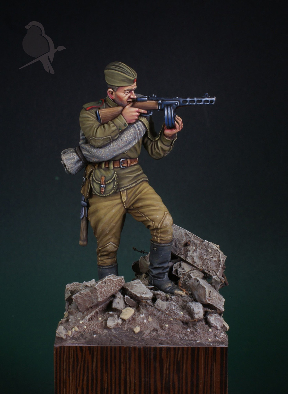 Фигурки: Автоматчик пехоты Красной Армии 43-45г, фото #1
