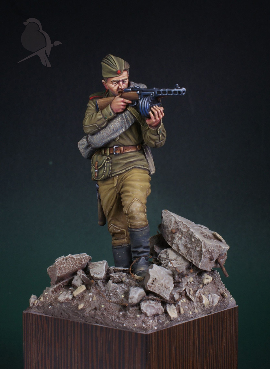Фигурки: Автоматчик пехоты Красной Армии 43-45г, фото #2