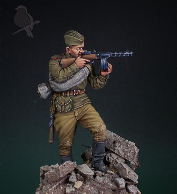 Фигурки: Автоматчик пехоты Красной Армии 43-45г