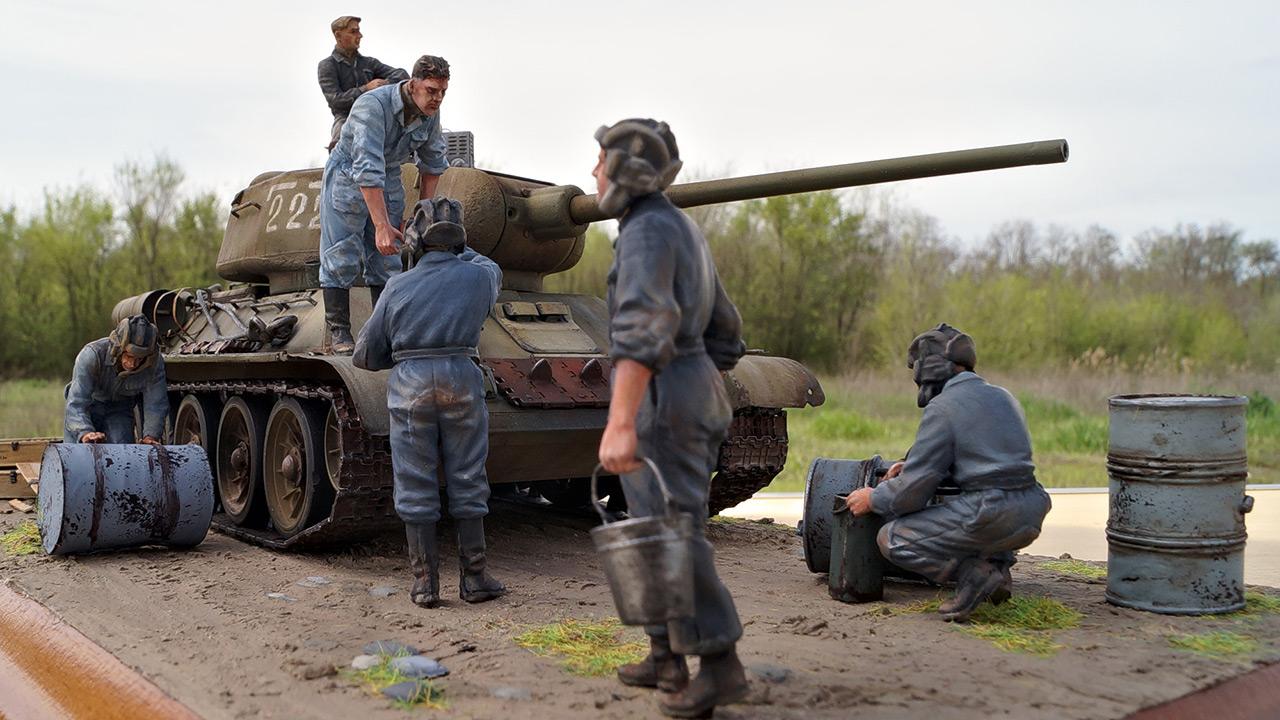 Диорамы и виньетки: Заправка танка, фото #2