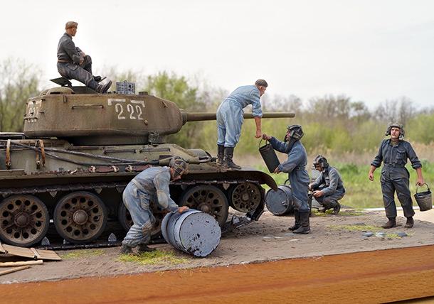 Диорамы и виньетки: Заправка танка