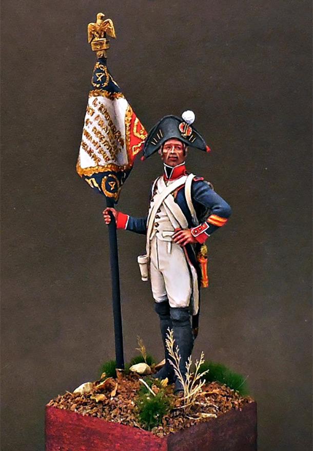 Фигурки: Старший сержант - орлоносец 4-го линейного полка. Франция, 1805 г.