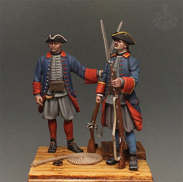Фигурки: Морские солдаты Петра Великого