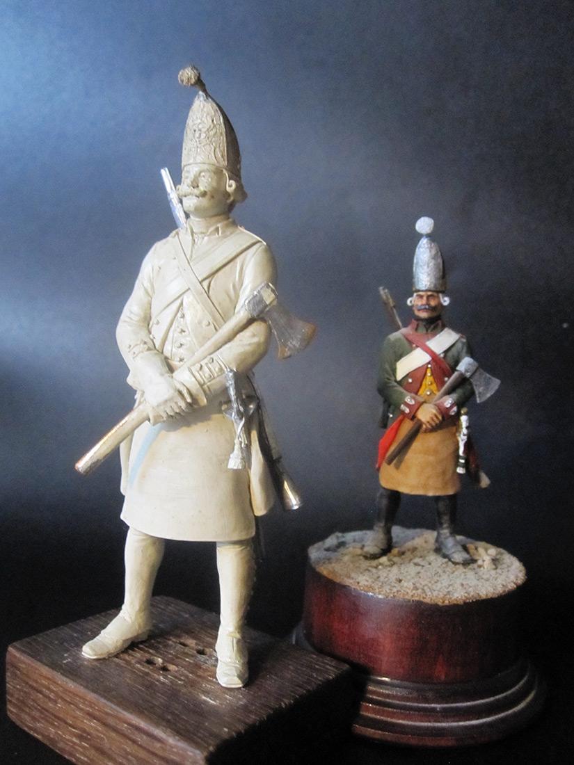 Скульптура: Фрунтовой мастеровой гренадерских полков, 1797-1801гг. , фото #7