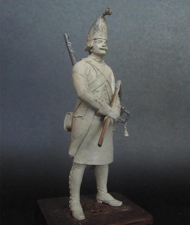 Скульптура: Фрунтовой мастеровой гренадерских полков, 1797-1801гг.