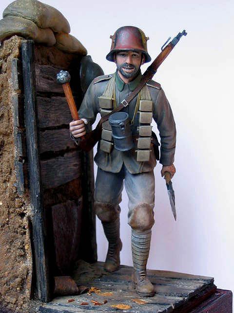 Фигурки: Боец немецкой штурмовой группы, 1917-18, фото #11