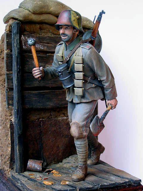 Фигурки: Боец немецкой штурмовой группы, 1917-18, фото #12