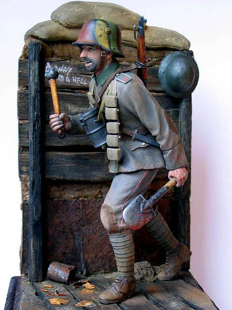 Фигурки: Боец немецкой штурмовой группы, 1917-18, фото #13