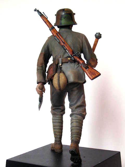 Фигурки: Боец немецкой штурмовой группы, 1917-18, фото #3