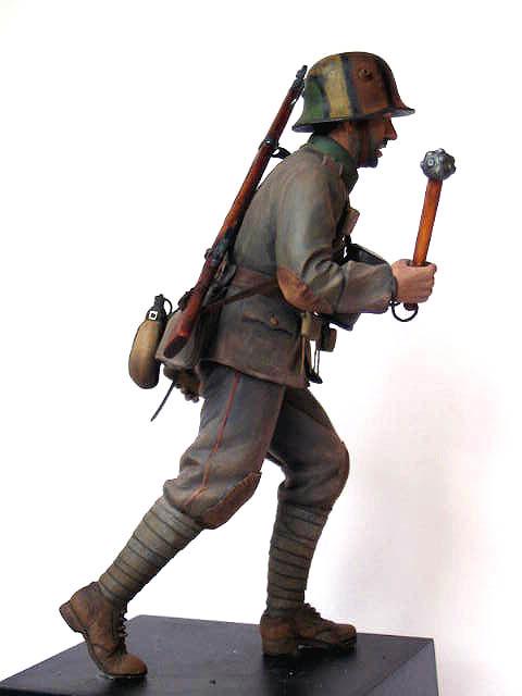 Фигурки: Боец немецкой штурмовой группы, 1917-18, фото #4