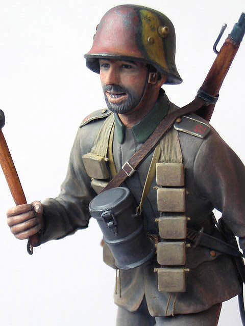 Фигурки: Боец немецкой штурмовой группы, 1917-18, фото #8