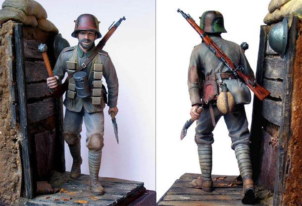 Фигурки: Боец немецкой штурмовой группы, 1917-18
