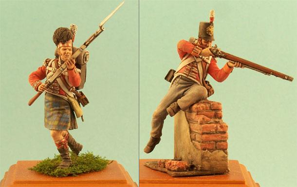 Фигурки: Английский и шотландский пехотинцы, 1812г.