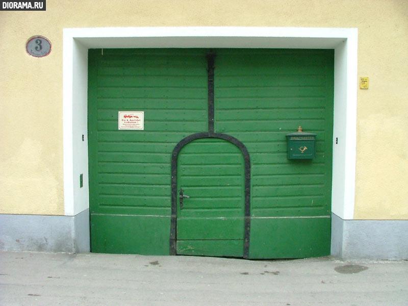 Ворота с почтовым ящиком, 12-й район, Вена, Австрия (Копилка Diorama.Ru)