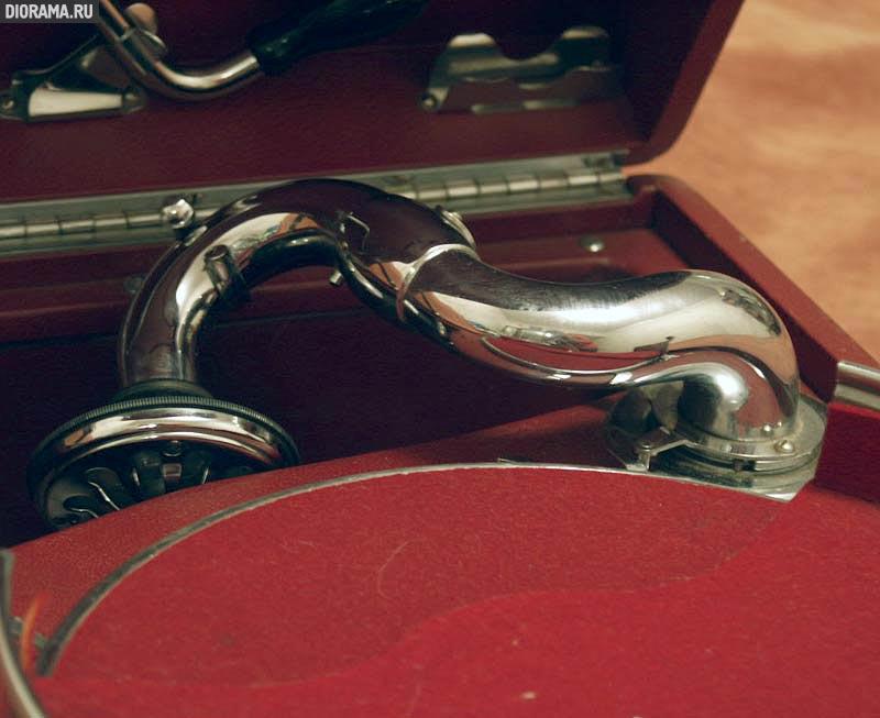 Патефон HMV #5A, фрагмент,  (Копилка Diorama.Ru)