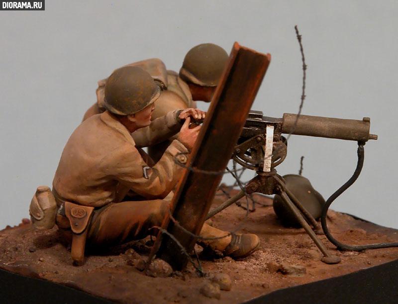 Обзоры: U.S. Mashine gun team, Europe, 1944., фото #7