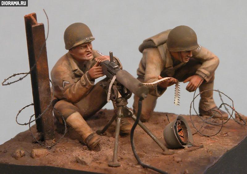 Обзоры: U.S. Mashine gun team, Europe, 1944., фото #8