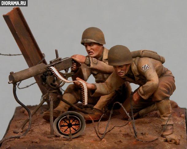 Обзоры: U.S. Mashine gun team, Europe, 1944.