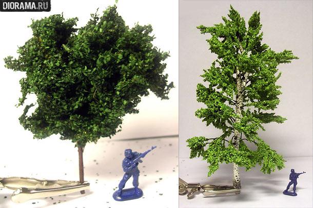 Модели деревьев своими руками
