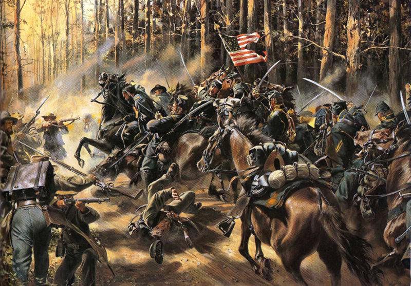 Обзоры: 8-й Пенсильванский кавалерийский полк в сражении под Чанселорвиллем 2 мая 1863 г., фото #1