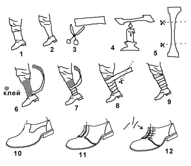 Технологии: Изготовление ботинок с обмотками